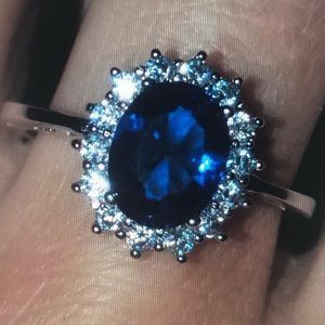 Kate Middleton Natural Brazilian Sapphire Ring